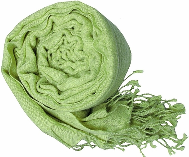 Warm and Soft 100% Wool Shawl (Baby Green)
