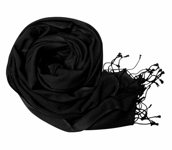 Warm and Soft 100% Wool Shawl (Black)