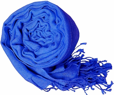 Warm and Soft 100% Wool Shawl (Blue)