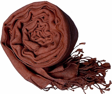 Warm and Soft 100% Wool Shawl (Chocolate Brown)