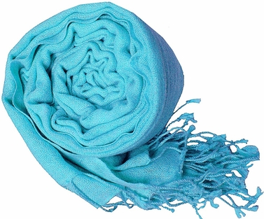 Warm and Soft 100% Wool Shawl (Turquoise)