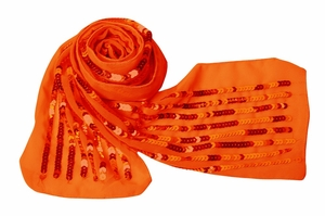 sequin-scarf-belt (Orange)