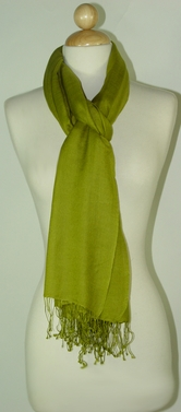 Silk-Cashmere-olive-green-Wrap