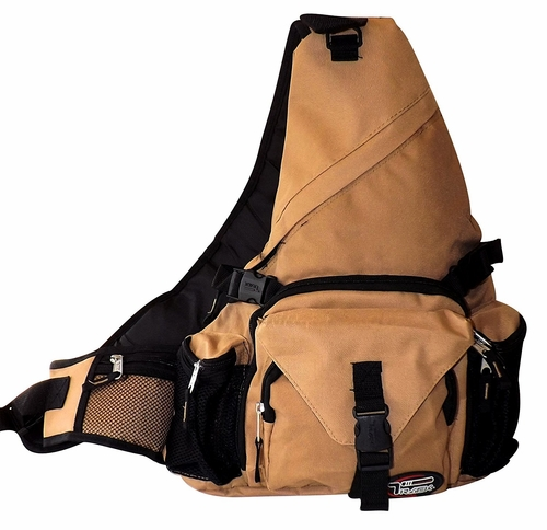 Single Strap Sling Travel Comfort Hiking Compartment Backpack (Regular, Khaki)