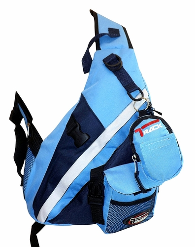 Single Strap Sling Travel Comfort Hiking Compartment Backpack (Small, Baby Blue)