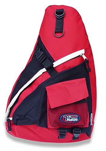 Single Strap Sling Travel Comfort Hiking Compartment Backpack (Hot Pink/Grey, R)