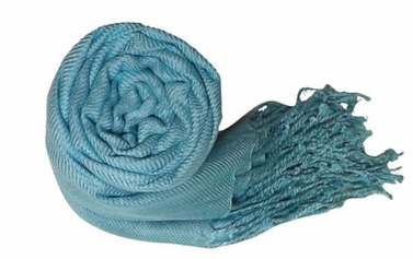 Surf Blue Pashmina Shawl/Wrap