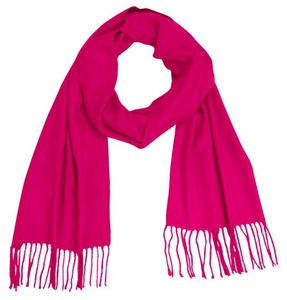 Soft and Warm Cashmere Feel Light Unisex Scarf (Fuchsia)