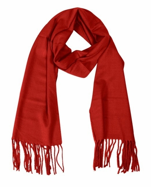 Soft and Warm Cashmere Feel Light Unisex Scarf (Red)