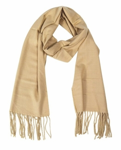 Soft and Warm Cashmere Feel Light Unisex Scarf (Tan)