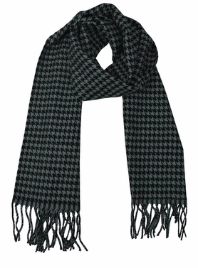 Soft and Warm Cashmere Feel Light Unisex Scarves (Grey/Black Houndstooth)