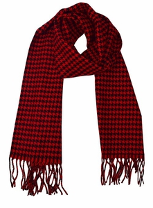 Soft and Warm Cashmere Feel Light Unisex Scarves (Red/Black Houndstooth)
