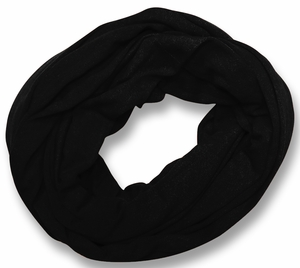 Soft Touch 100% Cotton Vivid Colors Infinity Loop Scarf (Black)
