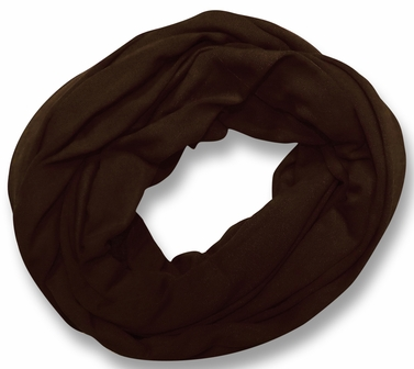 Soft Touch 100% Cotton Vivid Colors Infinity Loop Scarf (Chocolate Brown)