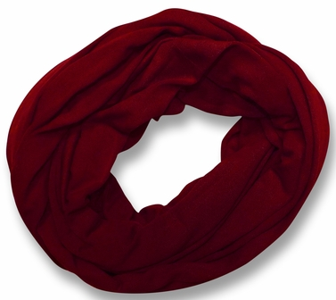 Soft Touch 100% Cotton Vivid Colors Infinity Loop Scarf (Maroon)
