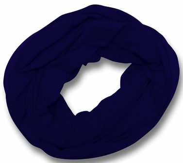 Soft Touch 100% Cotton Vivid Colors Infinity Loop Scarf (Navy Blue)