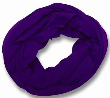 Soft Touch 100% Cotton Vivid Colors Infinity Loop Scarf (Purple)