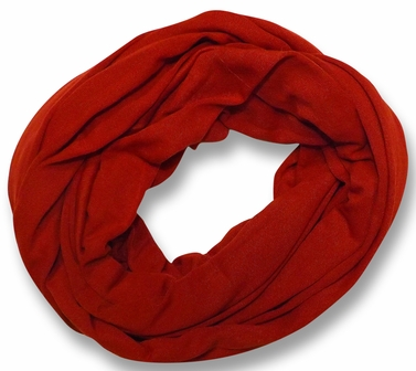Soft Touch 100% Cotton Vivid Colors Infinity Loop Scarf (Red)