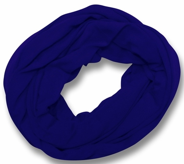 Soft Touch 100% Cotton Vivid Colors Infinity Loop Scarf (Royal Blue)
