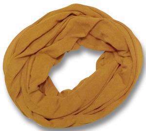 Soft Touch 100% Cotton Vivid Colors Infinity Loop Scarf (Tan)