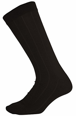 Men`s Soft & Warm Comfortable Ribbed Cashmere Socks (Black)
