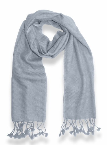 Classic Solid 100% Cashmere Scarf  (Grey)