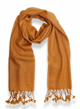 Classic Solid 100% Cashmere Scarf (Tan)