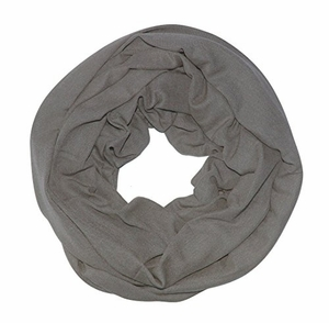 Solid Color Infinity Loop Scarf Jersey Knit (Dark Grey)