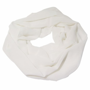Solid Color Infinity Loop Scarf Jersey Knit (White)