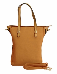 Classic Professional Oversized Zipper Tote Handbag Purse (Beige)