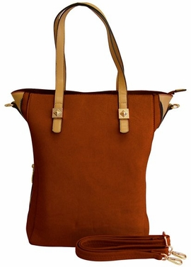 Classic Professional Oversized Zipper Tote Handbag Purse (Brown)