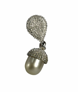 Sterling Silver and Pearl Ball Drop Pendant