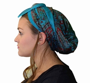 Tan Printed Head Scarf