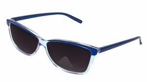 Translucent Retro Wayfarer Style Sunglasses with Polycarbon Lens (Blue)