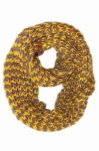Unisex Chevron Design Hand Knit Thick Chunky Infinity Loop Scarves