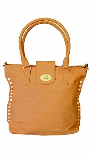 VALENTINA Top Handle Slouchy Hobo Hand Bag Office Style Tote Purse (Camel)