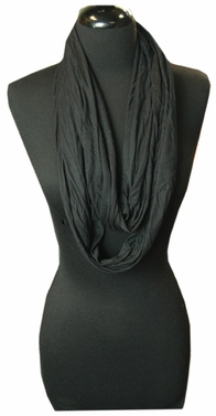 Very Soft and Light New Fashion Black Infinity Loop Circle Scarf