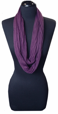 Very Soft and Light New Fashion Purple Infinity Loop Circle Scarf