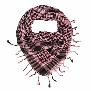 Very Soft Unisex Shemagh Houndstooth Scarf (Fuchsia)