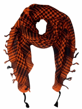 Very Soft Unisex Shemagh Houndstooth Scarf (Orange)