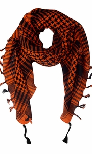100% Cotton Unisex Tactical Military Shemagh Keffiyeh Scarf Wrap Orange