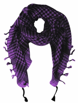 Very Soft Unisex Shemagh Houndstooth Scarf (Purple)