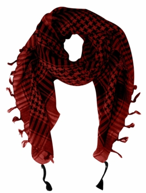 100% Cotton Unisex Tactical Military Shemagh Keffiyeh Scarf Wrap Red