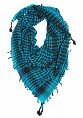 Very Soft Unisex Shemagh Houndstooth Scarf (Turquoise)