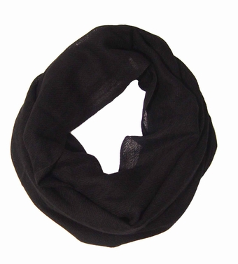 Warm Luxurious 100% Cashmere Infinity Loop (Black)