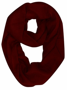 Warm Luxurious 100% Cashmere Infinity Loop (Maroon)