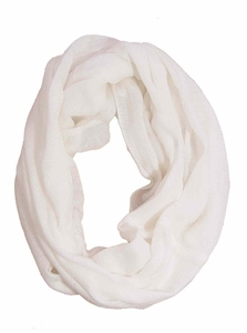 Warm Luxurious 100% Cashmere Infinity Loop (White)