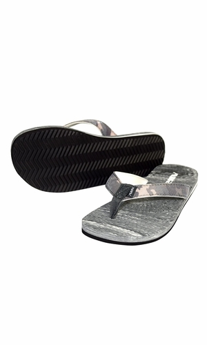 Women's Bright Fun Flip Flops Pool Beach Water Shoes Grey