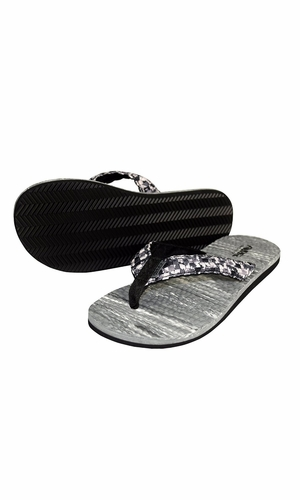 Women's Casual Strappy Summer Slipper Shower Sandal Beach Flip Flops Black and White