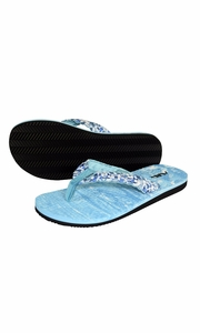 Women's Casual Strappy Summer Slipper Shower Sandal Beach Flip Flops Blue